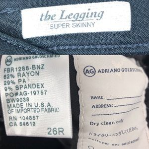 Ag Adriano Goldschmied Jeans - AG The Legging Super Skinny Jeans 26 Black gold b5